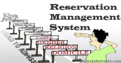 Reservation Management System in PHP (Computer Project