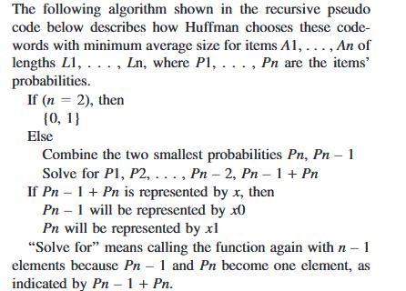 Algorithm.