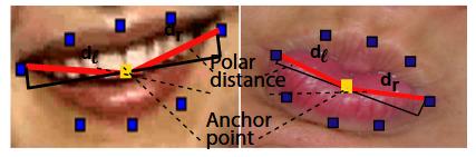 Polar Distance in Determining a Lip Corner Pull and Lip Pucker.