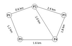 A five-node Network.