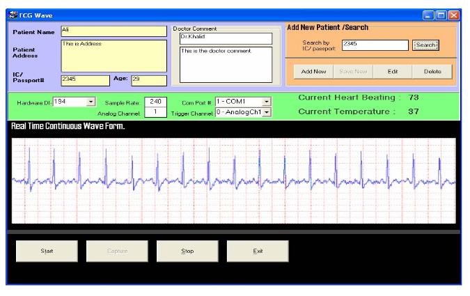 Figure 3.  Client's interface.