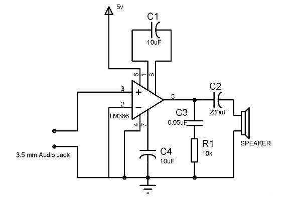 First Version Audio Amplifier Circuit.