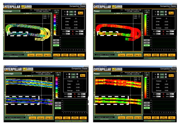 Screen Captures at Two Viewing Scales for Coverage and MDP With the Test Strip Outlined.