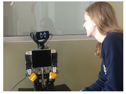 A User Interacts With the System on the Mu-l8 Robot.