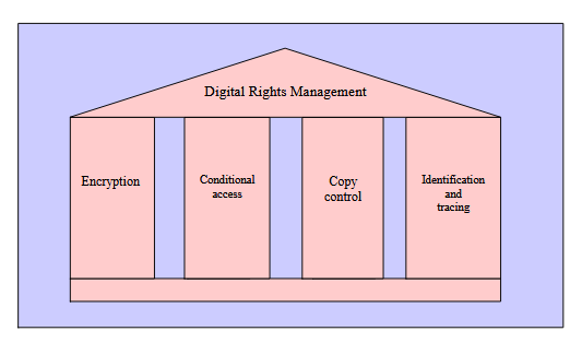 DRM Can be Seen as a Foundation of Four Pillars.