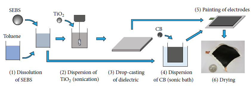 Figure 1: Fabrication process of the SEC.