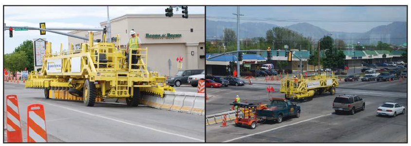 Figure 8 Moveable barrier has major benefits on both highways and arterials.
