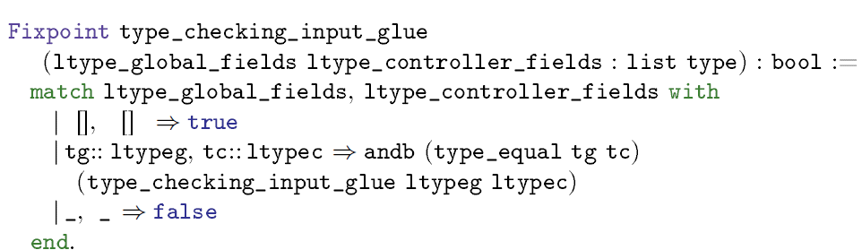 Fig. 12. Type checking for input glue function
