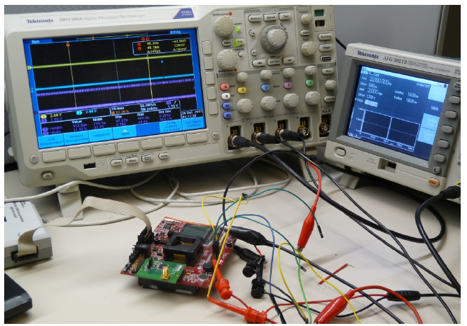 Fig. 8. Hardware setup with MSP430F5438 experimenters board.