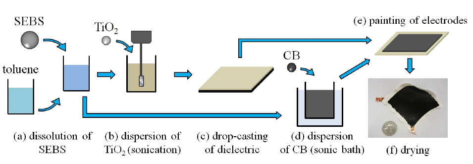 FIG. 1. Fabrication process of an SEC.