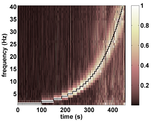 FIG. 6. Normalized wavelet decomposition of the output signal - small scale beam.
