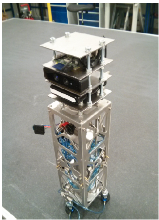 Figure 3.4: The Full Air Bearing System with LIDAR attached