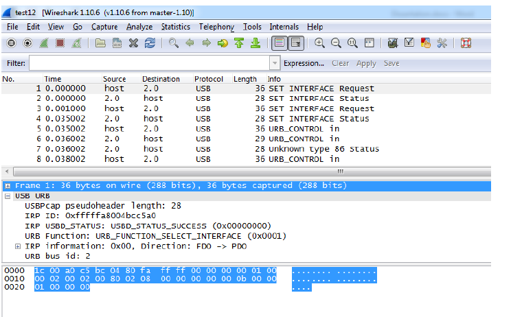 Figure 4.4: Screenshot of Packet Sniffing using Wireshark