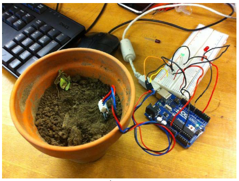 Figure 7 Arduino Uno and Soil Moisture Sensor