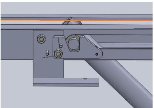 Figure 46. Straight View of Locking Mechanism