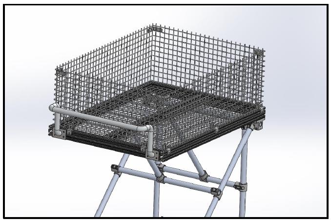 Figure 39: The basket & handlebar subsystem for the 80-20 T-Slot frame