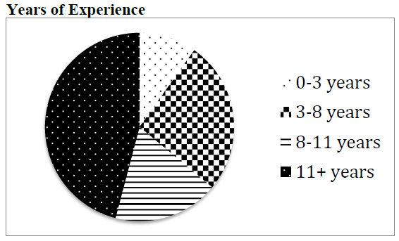 Figure 8: Pie Chart: Years of Experience