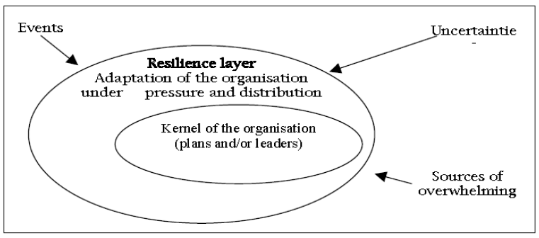 Fig 6: The resilience layer to organizational crisis