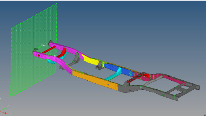 Figure 22-Model for mesh validation of Chassis