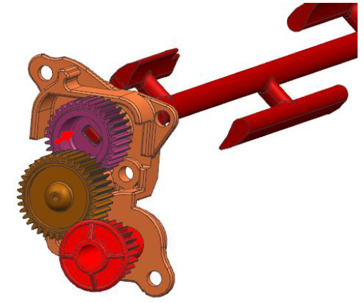 Figure 3. Final Design Adjustments: Reducing the Internal Hub and Agitator Shaft Length