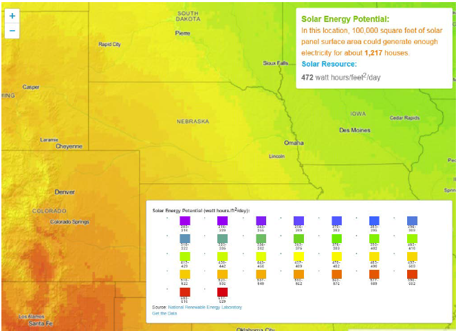 Figure 6-13. Solar Energy Potential Map.
