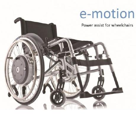 Figure 1: Alber e-motion power assist wheelchair.