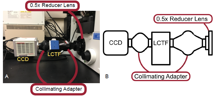 Figure 3 — A. Picture of modular attachments used in this study. B. A schematic of the attachments used.