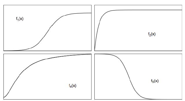 Figure 2.2: Li (2006) Function Shapes.