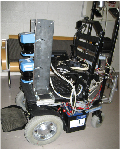 Figure 6 : The Mica wheelchair with the two lasers in the front