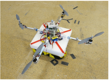 Figure 11. The quadrotor used for experimental implementation
