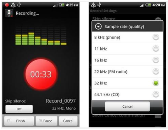 Figure 3-1: Smart Voice Recorder Interface