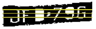 Figure 1. Segmented region with three scan lines