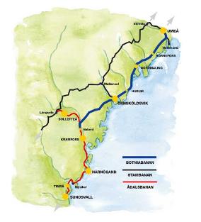 Figure 2.1: The Bothnia Line