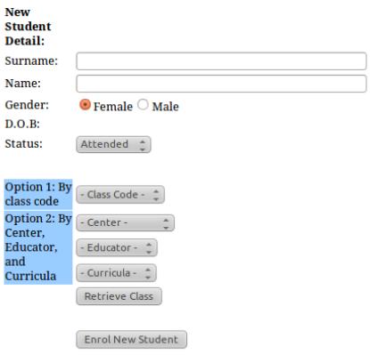 Figure 4.2: Student registration process