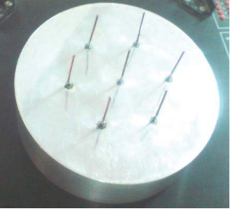 Fig.4. Designed seven element parasitic switched array antenna