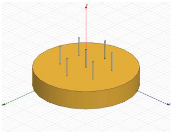 Fig.5. Simulated antenna model