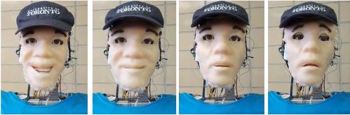 Fig.7. Brian 2.1's facial expressions