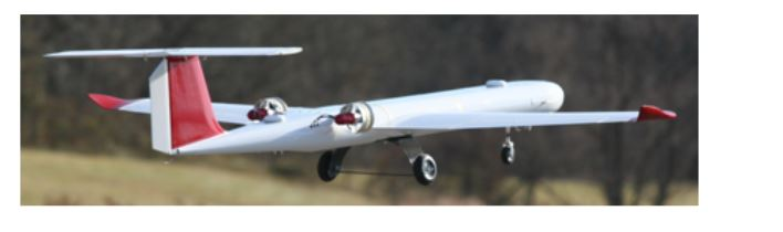 Figure 1. West Virginia University's Red Phastball research unmanned aerial vehicle (UAV)