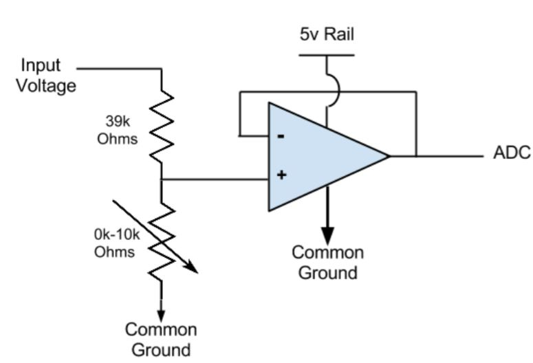 Figure 2: Input voltage stage circuit diagram
