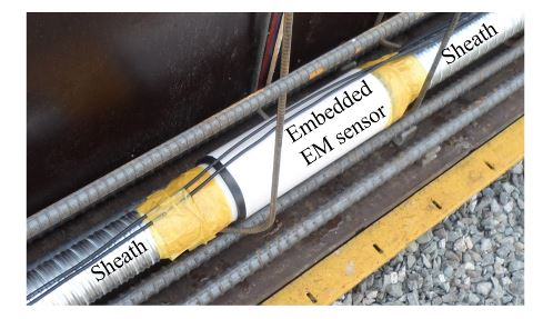 Figure 3. Installation of an embedded EM sensor
