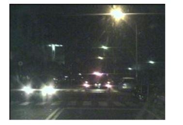 Figure 2 . A sample nighttime road scene