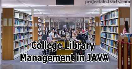 College Library Management in JAVA (Computer Project